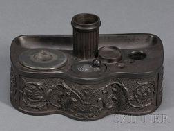 Wedgwood and Bentley Black Basalt Inkstand