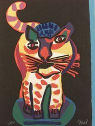 Karel Appel (Dutch/American, b. 1921)  Cat