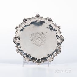 George II Silver Card Tray