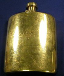 Edwardian 18kt Gold Hip Flask