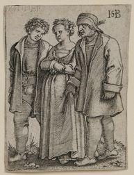 Hans Sebald Beham (German, 1500-1550)      Peasant Bride and Bride Groom