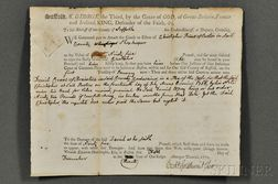 Adams, John (1735-1826) Signed Legal Brief, 5 December 1770.