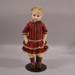 Portrait Jumeau Bisque Head Doll