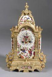 French Porcelain and Gilt Bronze Mantel Clock