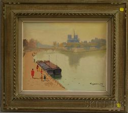 Nicolai V. Krycevsky (Russian Federation, 1898-1961)      Quai de Seine