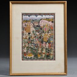 Painting of a Scene from The Ramayana