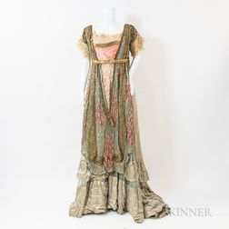 French Art Nouveau Silk Gown