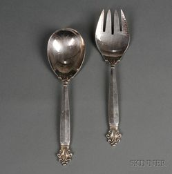 Sanborn's Sterling Silver Serving Two-Piece Serving Set