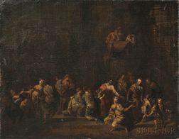 Attributed to Christian Wilhelm Ernst Dietrich (German, 1712-1774)      Christ Blessing Little Children