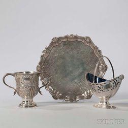 Three Pieces of George II/III Sterling Silver Tableware