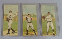 Three 1911 T201 Mecca Cigarettes Double Folder Baseball Cards