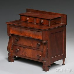 Miniature Classical Mahogany Chest of Drawers
