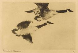 Frank Weston Benson (American, 1862-1951)  Study of Geese