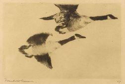 Frank Weston Benson (American, 1862-1951)  Study of Geese