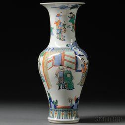 Famille Verte Yanyan   Vase
