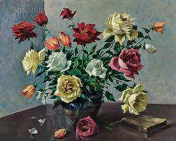 Luis Alfredo López Méndez (Venezuelan, 1901-1996)    Still Life with Roses