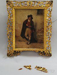 Rodolfo Agresti (Italian, 19th Century)    Street Musician with Accordion, Florence