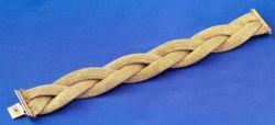 14kt Gold Braided Bracelet
