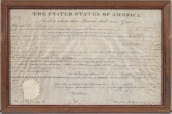 Adams, John Quincy (1767-1848) Signed Land Document, 6 June 1826.