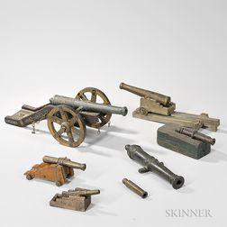 Seven Model Cannons