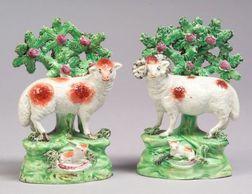 Pair of Salt Bocage Sheep