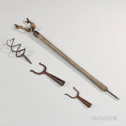 Four Early Iron Artillery/Musket Implements