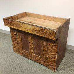 Putty-painted Pine Dry Sink