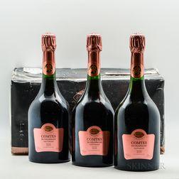 Taittinger Comtes de Champagne Rose 2005, 6 bottles (oc)