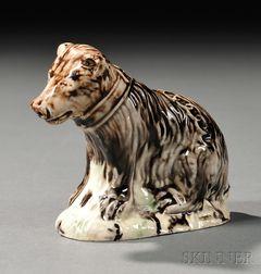 Staffordshire Lead-glazed Creamware Model of a Bear