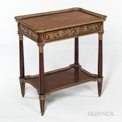 Louis XVI-style Ormolu-mounted Mahogany Table a Ecrire