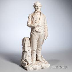 Parian Statue of Daniel Webster After T. Ball