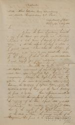 Adams, John Quincy (1767-1848) Retained Secretarial Copy of Letter Signed, 1 May 1821.
