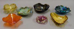 Seven Italian Art Glass Bowls