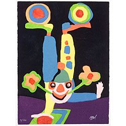 Karel Appel (Dutch/American, b. 1921)  Clown