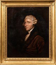 After Gilbert Stuart (American, 1755-1828)      Portrait of Scottish Diplomat Caleb Whitefoord (1734-1810)