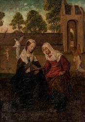 Northern European School, 16th Century Style      The Visitation