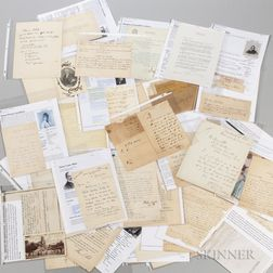 Authors, Political and Historical Figures, Letters and Others, 19th and Early 20th Century.