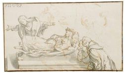 Continental School, 18th/19th Century Lot of Four Figural Scenes, Including Death of the Virgin, Artists ...