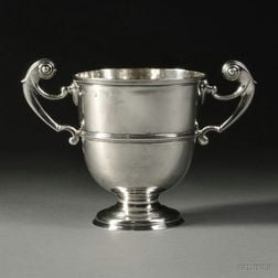 Irish George II/III Sterling Silver Two-handled Loving Cup
