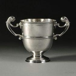 Irish George II/III Sterling Silver Two-handled Loving Cup