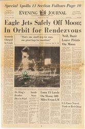 Armstrong, Neil (1930-2012) Signed Newspaper, 21 July 1969.