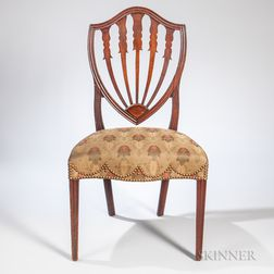 Mahogany Shield-back Side Chair