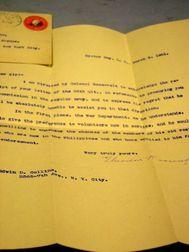 Franklin D. Roosevelt Signed Letter