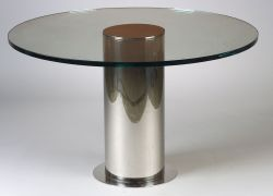 Glass and Stainless Steel Table