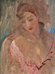 E.E. (Edward Estlin) Cummings (American, 1894-1962)      Portrait of Marion Moore