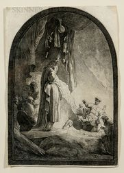 Rembrandt Harmensz van Rijn (Dutch, 1606-1669)      The Raising of Lazarus: The Larger Plate