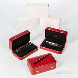 Three Cartier Limited Edition Fountain Pen Sets