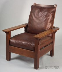 Arts & Crafts Adjustable-back Morris Chair