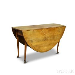 Queen Anne Maple Drop-leaf Table