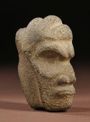 Vera Cruz Carved Stone Hacha